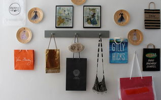 shopping bag inspired gallery wall kidspace, bedroom ideas, repurposing upcycling, wall decor