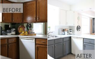 fixer upper inspired kitchen redo using mostly paint, home maintenance repairs, kitchen cabinets, kitchen design, paint colors, painting