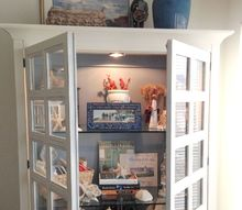 diy coastal cottage cabinet, chalk paint, painted furniture