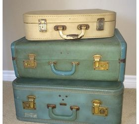 Vintage Suitcase Side Table, Diy, Painted Furniture, Repurposing Upcycling,  Rustic Furniture Part 92