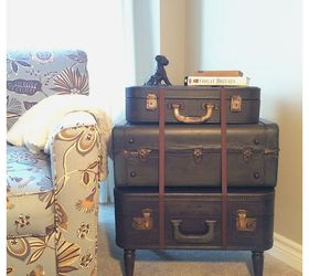 High Quality Vintage Suitcase Side Table, Diy, Painted Furniture, Repurposing Upcycling,  Rustic Furniture