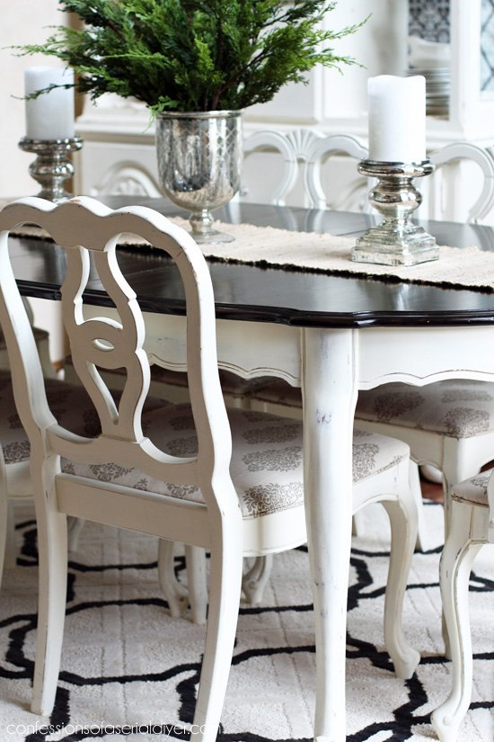 Dining Room Set Chalk Milk Paint Redo Hometalk