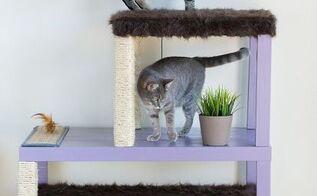 make a homemade cat condo, diy, painted furniture, pets, pets animals