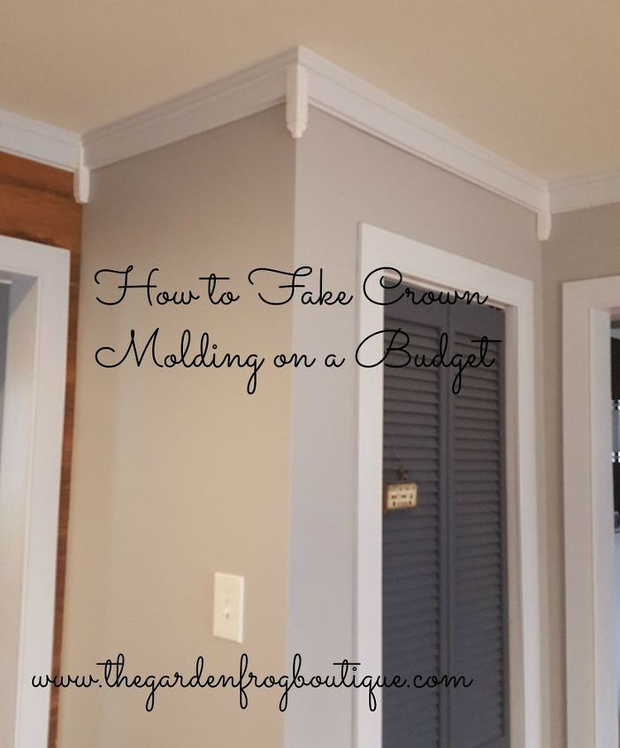 How to fake crown molding on a budget hometalk for Dining room wall molding ideas