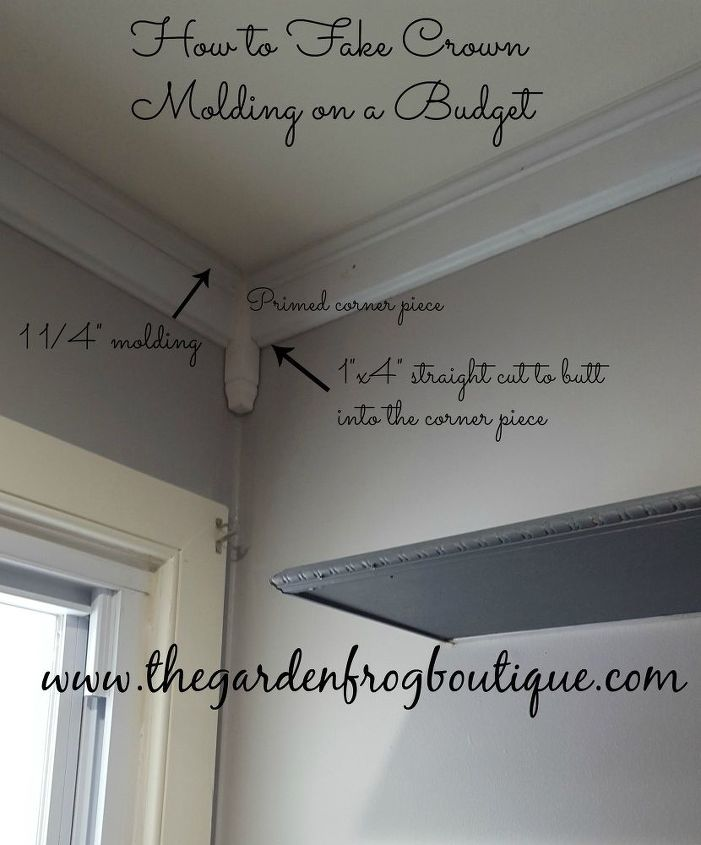 How To Fake Crown Molding On A Budget Dining Room Ideas