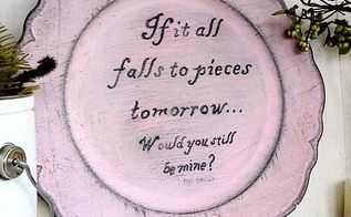 valentine message painted plates, crafts, seasonal holiday decor, valentines day ideas