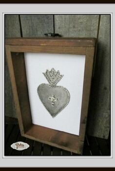 diy ex voto sacred heart, crafts, repurposing upcycling, seasonal holiday decor, valentines day ideas