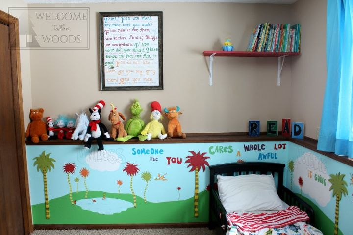 Dr seuss children 39 s bedroom kidspace hometalk - Childrens bedroom wall painting ideas ...