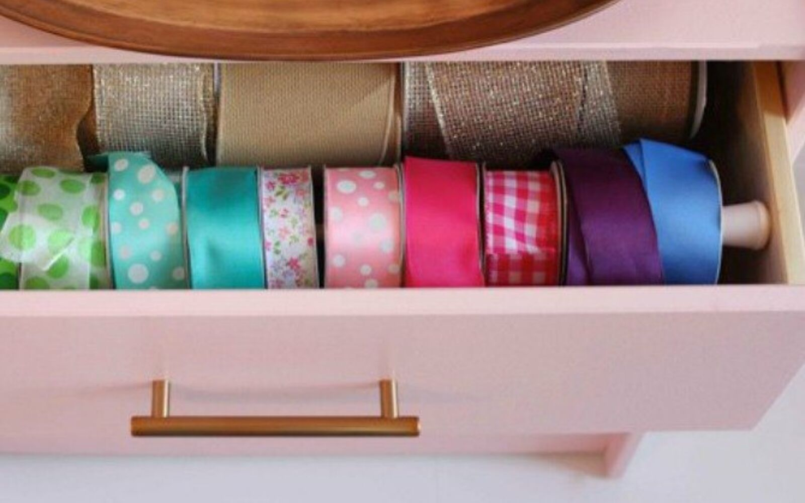 s we couldn t believe these started as ikea rasts, painted furniture, repurposing upcycling, Her Bright Pink Ribbon Organizer