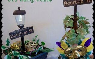 mardis gras diy bourbon street lamp post, crafts, seasonal holiday decor