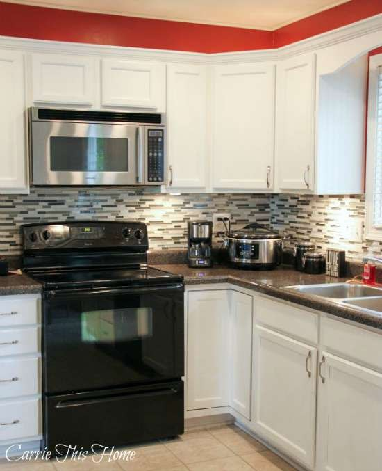 Kitchen Decor With Black Appliances: Budget Kitchen Makeover