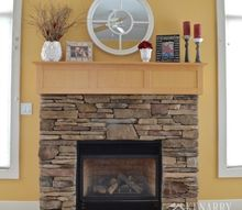 winter mantel decor ideas white and red accents, fireplaces mantels, home decor