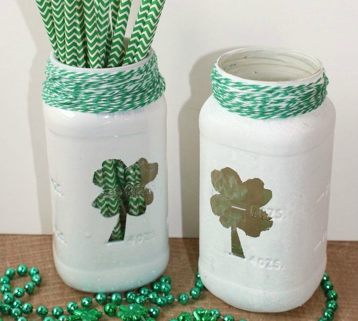 make some sham rocking mason jars - Home Decoration Stuff