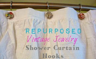 repurpose vintage jewelry in the shower bathroombeautify, bathroom ideas, repurposing upcycling