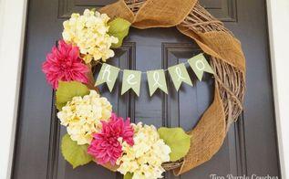 hello spring diy wreath, crafts, seasonal holiday decor, wreaths