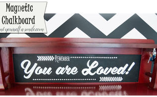 how to make a magnetic chalkboard, chalkboard paint, crafts, how to