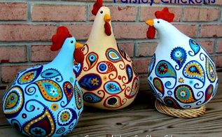 how to make paisley chickens, crafts, how to, repurposing upcycling