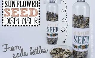 human sunflower seed dispenser, crafts, how to