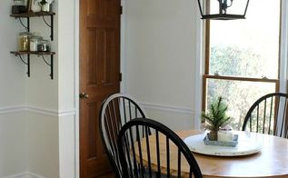 a simple colonial breakfast nook makeover, dining room ideas, home decor, kitchen design
