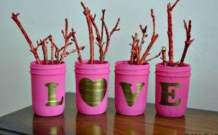 shabby chic love mason jars, crafts, mason jars, seasonal holiday decor, shabby chic, valentines day ideas