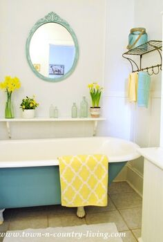 bathroom update in just one day, bathroom ideas, chalk paint, diy, painting