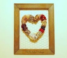 funky necklace heart wreath, crafts, repurposing upcycling, seasonal holiday decor, valentines day ideas, wreaths