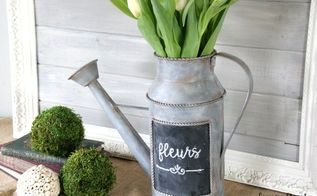 how to create a faux galvanized metal finish, container gardening, crafts, gardening