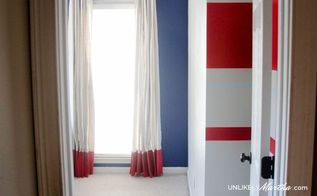 10 diy no sew painted drop cloth curtains, crafts, diy, reupholster, window treatments, windows