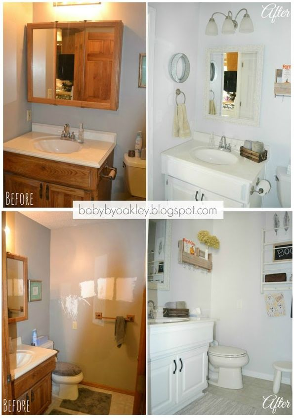 Diy half bathroom redo hometalk for Redoing bathroom ideas