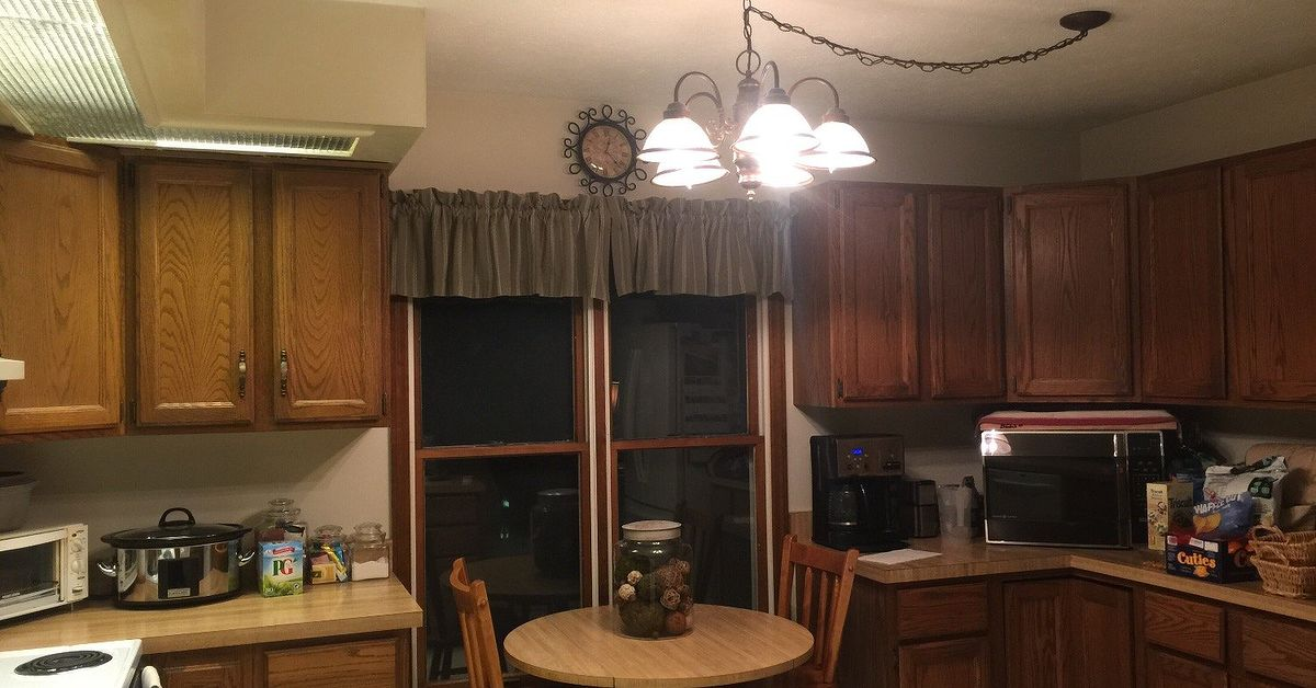 Refinishing kitchen cabinets with general paints milk