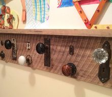 decorative coat rack from found objects, diy, foyer, organizing, repurposing upcycling, woodworking projects, Decorative Coat Rack from Found Objects