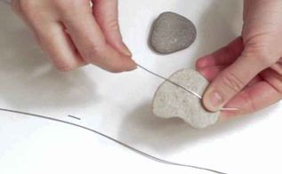 diy nautical decor heart rocks and sea glass mobile, crafts, landscape, seasonal holiday decor