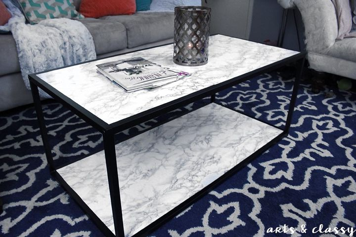 diy faux marble coffee table makeover tutorial, painted furniture - DIY Faux Marble Coffee Table Makeover Tutorial Hometalk