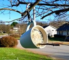 diy bird suet feeder from thrifted coffee mugs, crafts, outdoor living, repurposing upcycling