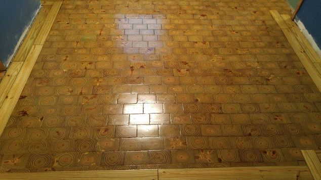 i made an end grain wood floor from scratch and saved myself 4000, dining  room - I Made An End Grain Wood Floor From Scratch And Saved Myself $4000