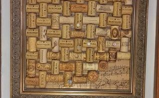 gorgeous cork board to cover an eye sore, crafts, repurposing upcycling