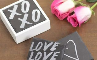 diy faux slate coasters valentinesday, chalkboard paint, crafts, seasonal holiday decor, valentines day ideas