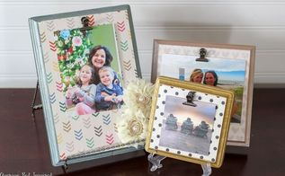 easy diy wood plaque picture frames, crafts, decoupage, how to