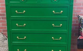 emerald green chest, painted furniture