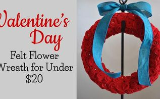 the perfect valentine s day felt flower wreath, crafts, seasonal holiday decor, valentines day ideas, wreaths