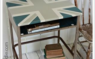 union jack school desk, painted furniture