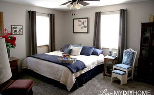 master bedroom before after love my diy home, bedroom ideas, diy, home decor