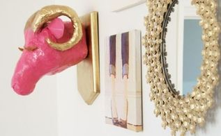 the glam ram paper mache ram trophy head, crafts, how to, wall decor