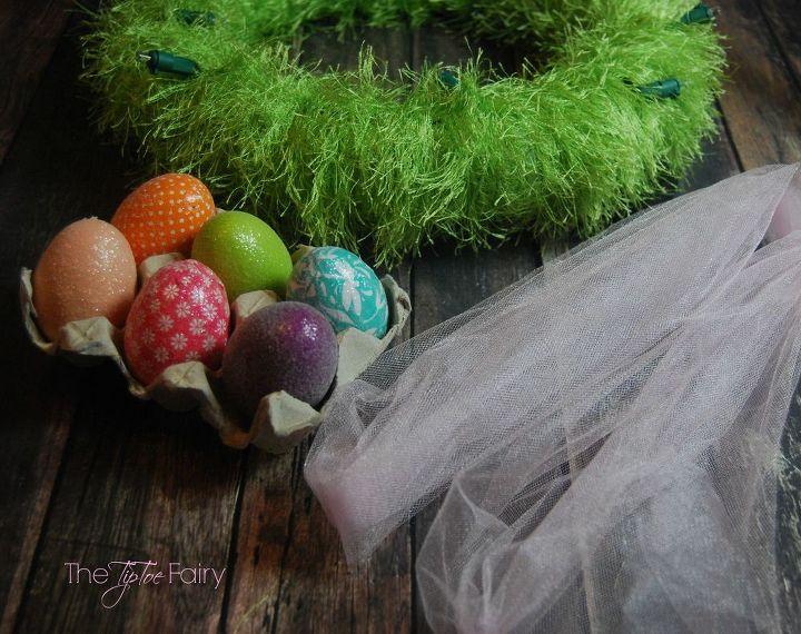 Light up easter egg wreath hometalk - Light up easter decorations ...