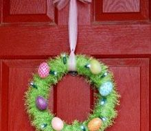 light up easter egg wreath, crafts, easter decorations, seasonal holiday decor, wreaths