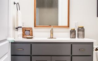 farmhouse inspired bathroom makeover, bathroom ideas, home improvement, small bathroom ideas