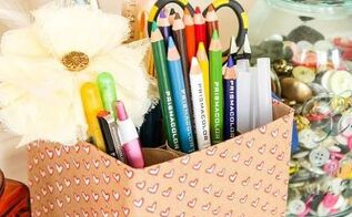 craft supply holder, craft rooms, crafts, organizing, repurposing upcycling, storage ideas