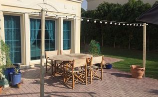 diy steel wire pergola on the cheap, decks, diy, outdoor living