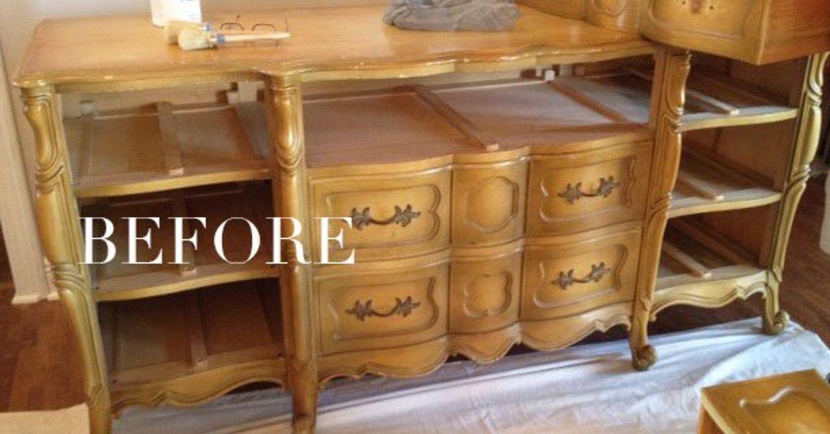 A Blue French Provincial Dresser Hometalk