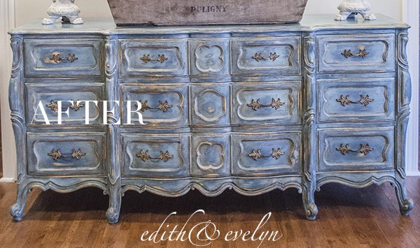 A Blue French Provincial Dresser Hometalk